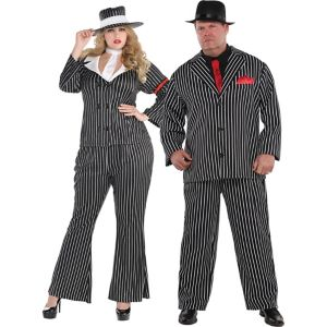 Adult Mob Wife & Mob Boss Couples Costumes Plus Size