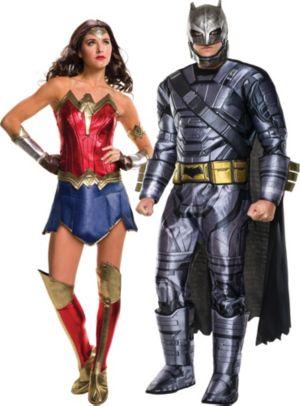 Adult Wonder Woman & Batman Couples Costumes - Batman v Superman: Dawn of Justice