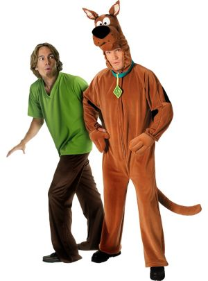 Deluxe Scooby-Doo and Shaggy Couples Costumes