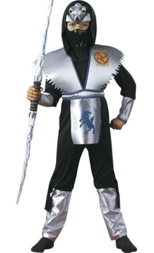 Boys Shadow Ice Wolf Ninja Costume Deluxe