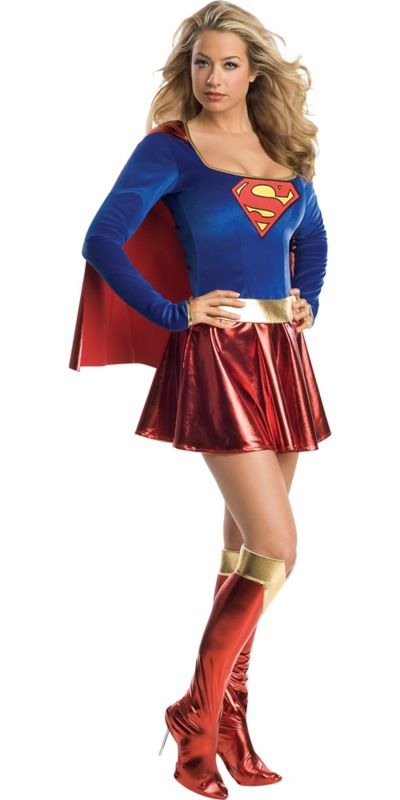Adult Classic Supergirl Costume - Superman