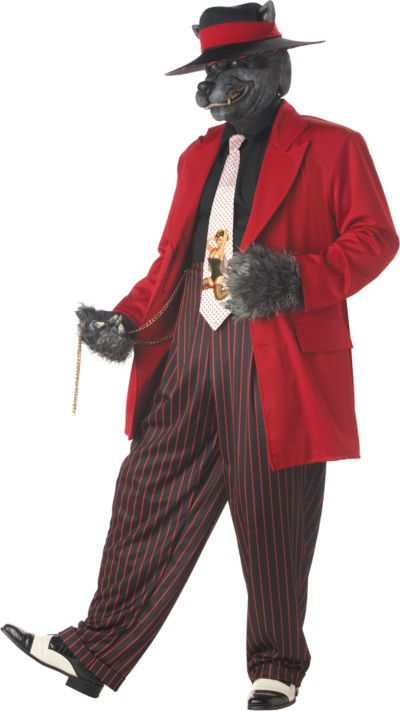 Adult Howlin' Good Time Wolf Costume