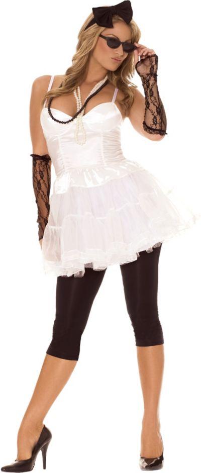 Adult Pop Queen 80's Costume
