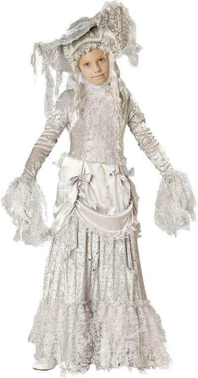 Girls Ghostly Lady Costume Elite