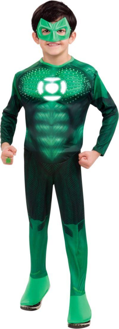 Boys Hal Jordan Costume Deluxe - Green Lantern