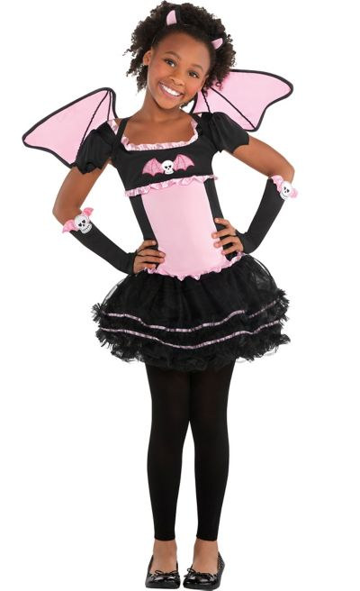 Girls Bat to the Bone Bat Costume
