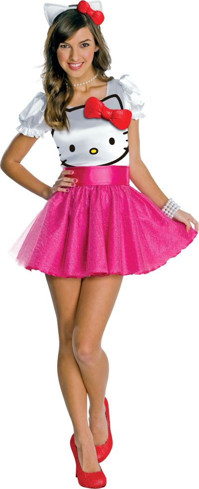Teen Girls Hello Kitty Costume