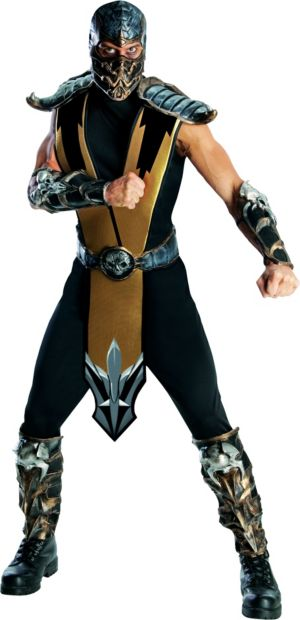 Adult Scorpion Costumes - Mortal Kombat