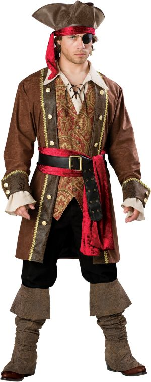 Adult Captain Skullduggery Pirate Costume Elite