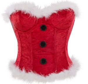 Red Christmas Corset