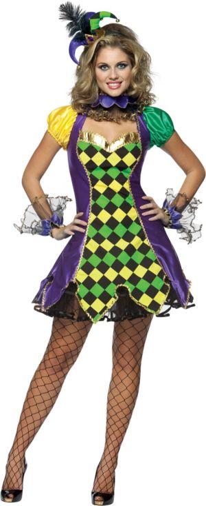 Adult Mardi Gras Jester Costume