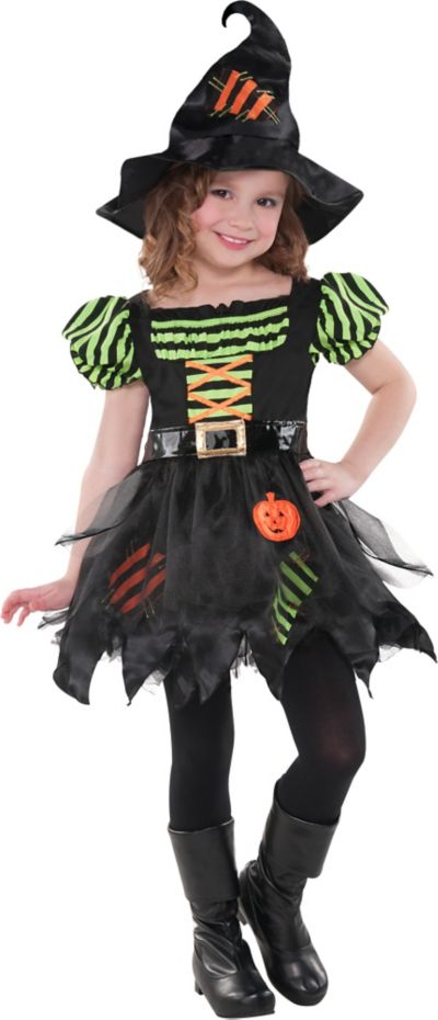 Girls Pumpkin Patch Witch Costume