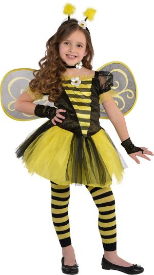 Little Girls Totally Bumble Bee Costume