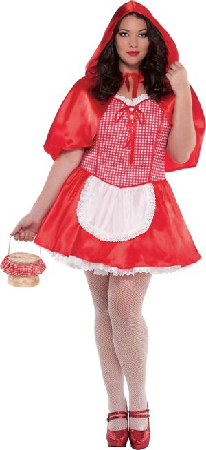 Adult Miss Red Riding Hood Costume Plus Size
