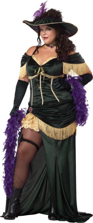 Adult Saloon Madame Costume Plus Size