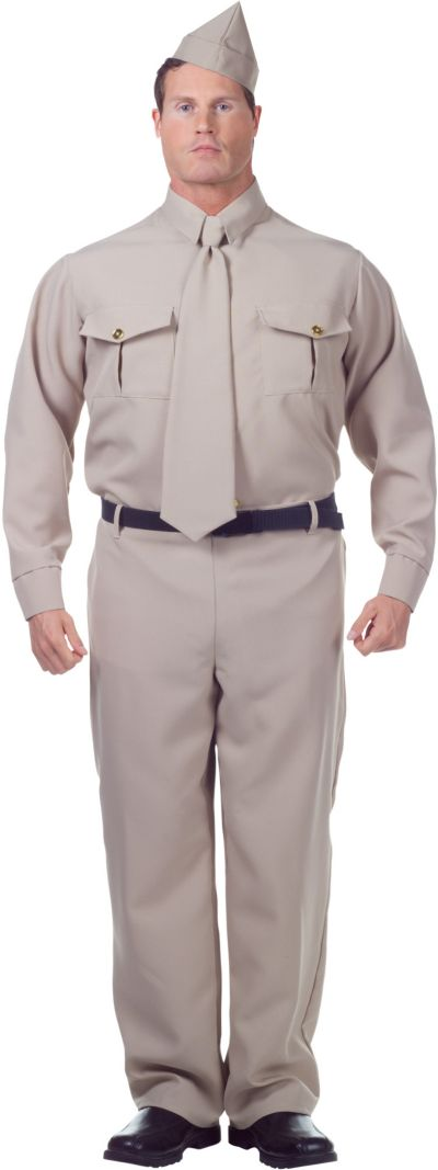 Adult 1940s Soldier Costume Plus Size