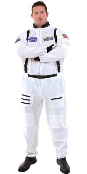Adult White Astronaut Costume Plus Size