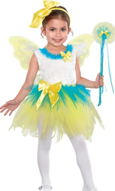 Toddler Girls Yellow Fairy Princess Costume