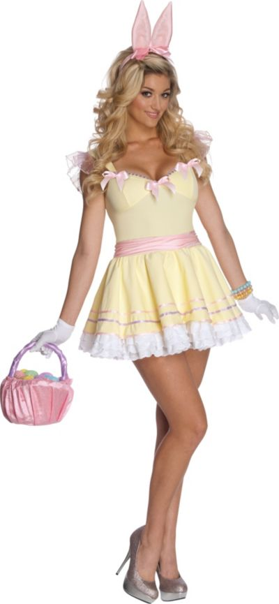 Adult Egg-stra Cute Easter Bunny Costume