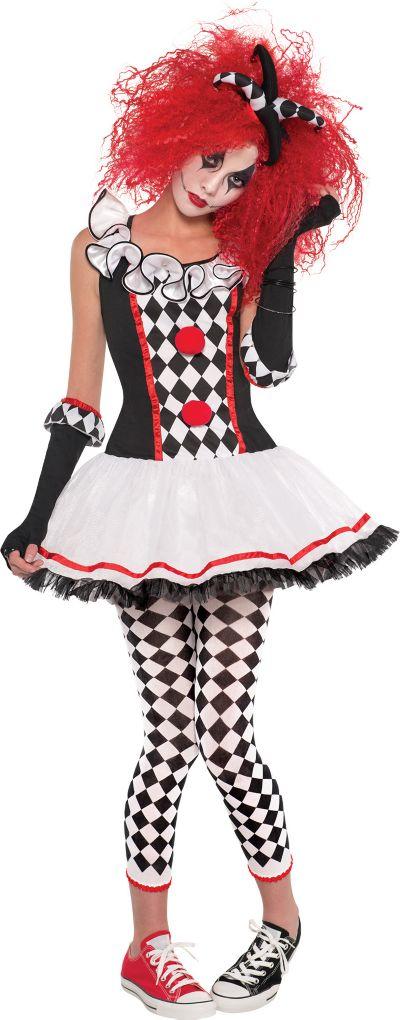 Teen Girls Harlequin Honey Costume