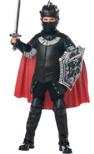 Boys Black Knight Costume