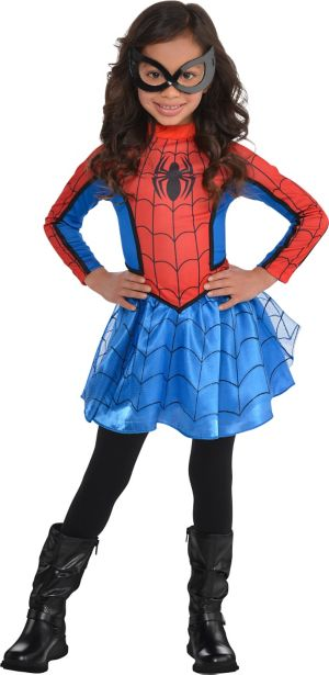 Little Girls Red Spider-Girl Costume