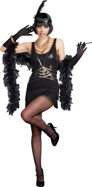 Adult Ain't Misbehavin' Flapper Costume