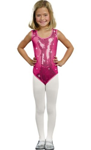 Girls Pink Sequin Bodysuit
