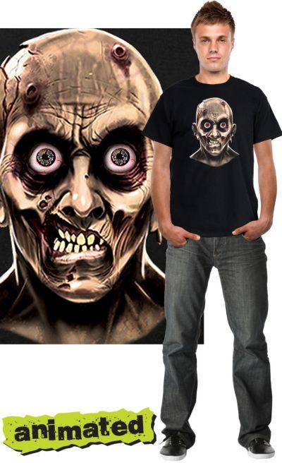 Zombie Mugshot Animated T-Shirt