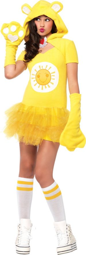 Teen Girls Funshine Bear Costume - Care Bears