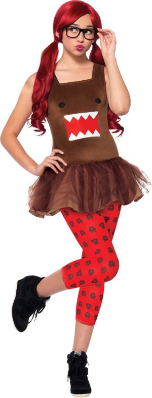 Teen Girls Domo Nerd Costume