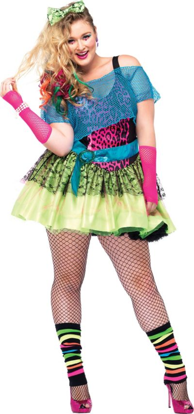 Adult Totally Tubular Tina 80s Costume Plus Size