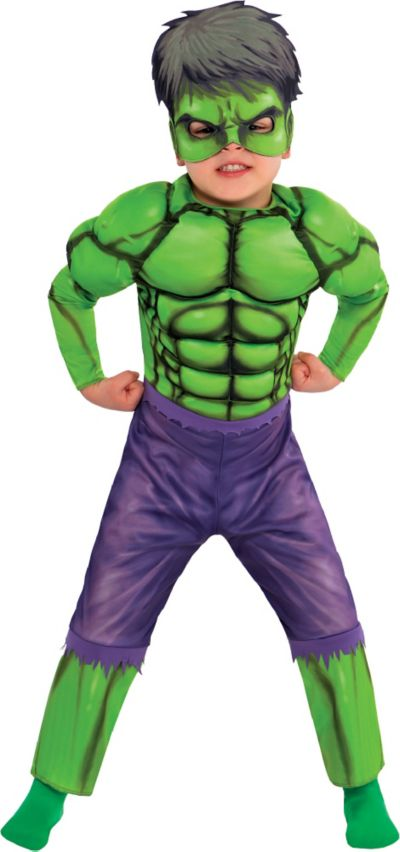 Toddler Boys Hulk Muscle Costume Classic