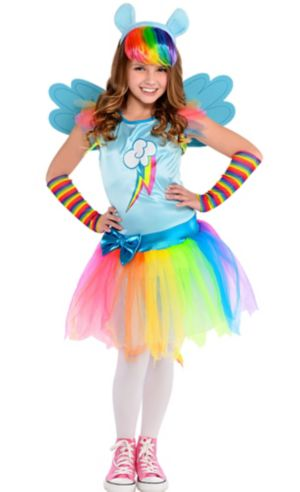Girls Rainbow Dash Costume - My Little Pony