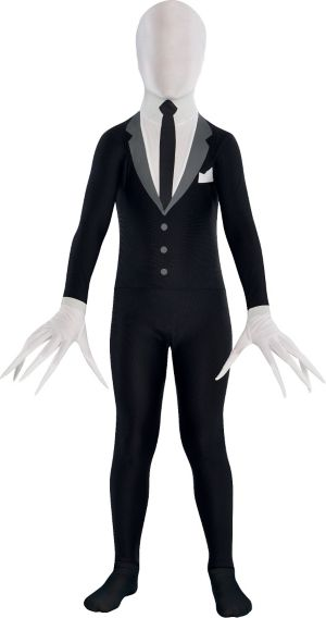 Teen Slender-Man Partysuit