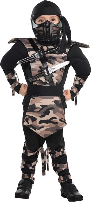 Little Boys Combat Ninja Costume