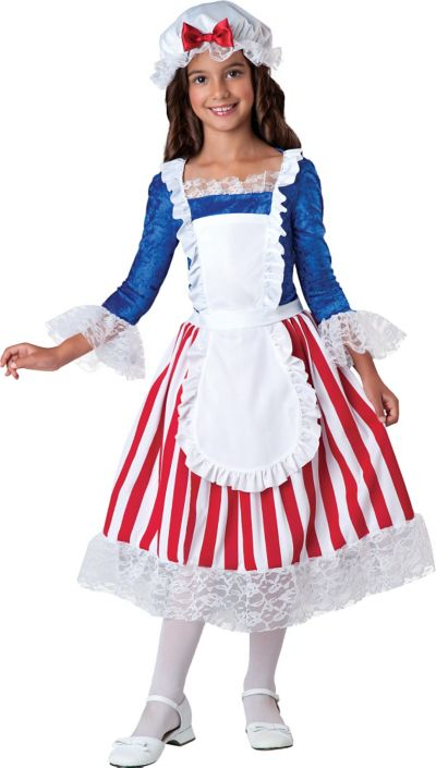 Girls American Betsy Ross Costume