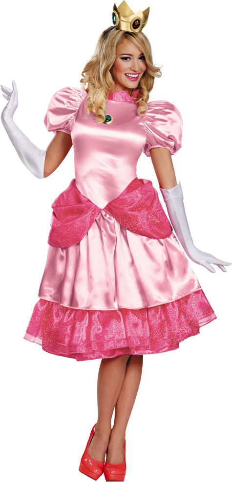 Halloween Costumes Princess Adults Adult Princess Peach Costume