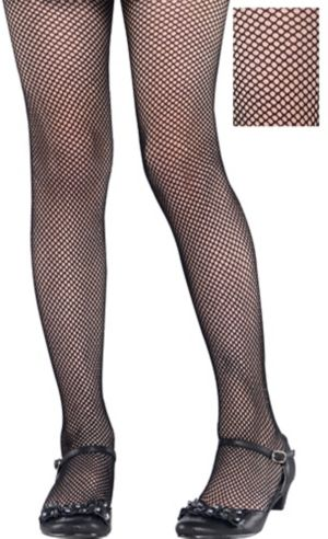 Child Black Fishnet Tights
