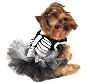 Heart Skeleton Dog Tutu Dress
