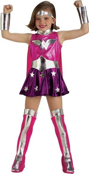 Toddler Girls Pink Wonder Woman Costume