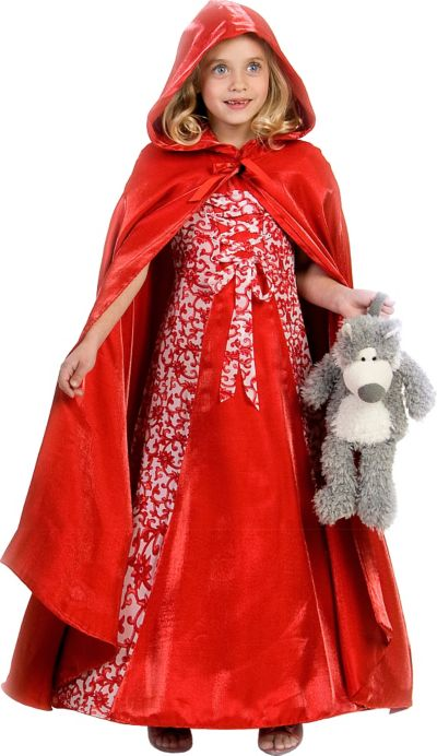 Girls Princess Red Riding Hood Costume