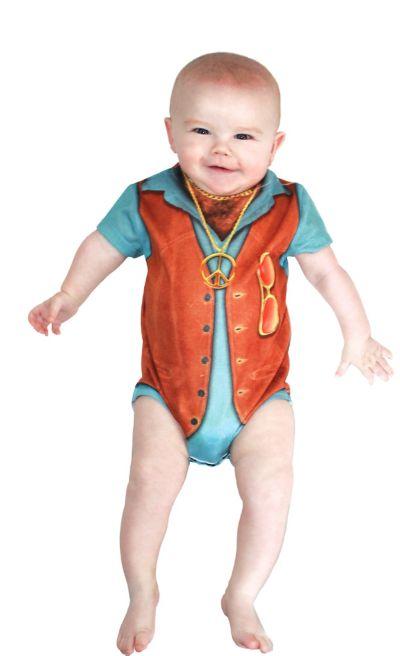 Baby Hairy Chest Bodysuit