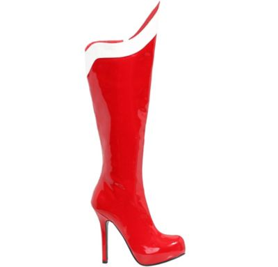 Red and White Wondrous Woman Boots