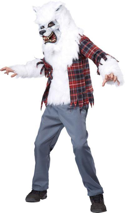 Boys White Werewolf Costume