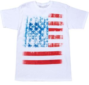 Vintage-Inspired American Flag T-Shirt