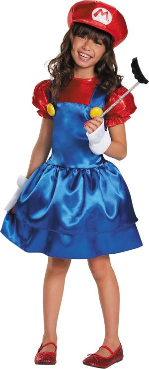 Girls Miss Mario Costume - Super Mario Brothers