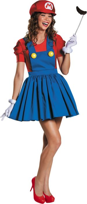 Adult Miss Mario Costume - Super Mario Brothers