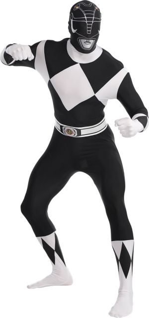 Adult Black Power Ranger Partysuit - Mighty Morphin Power Rangers
