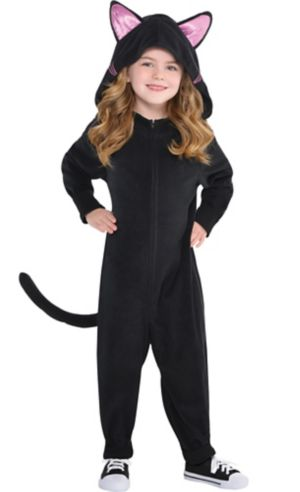 Toddler Girls Zipster Black Cat One Piece Costume